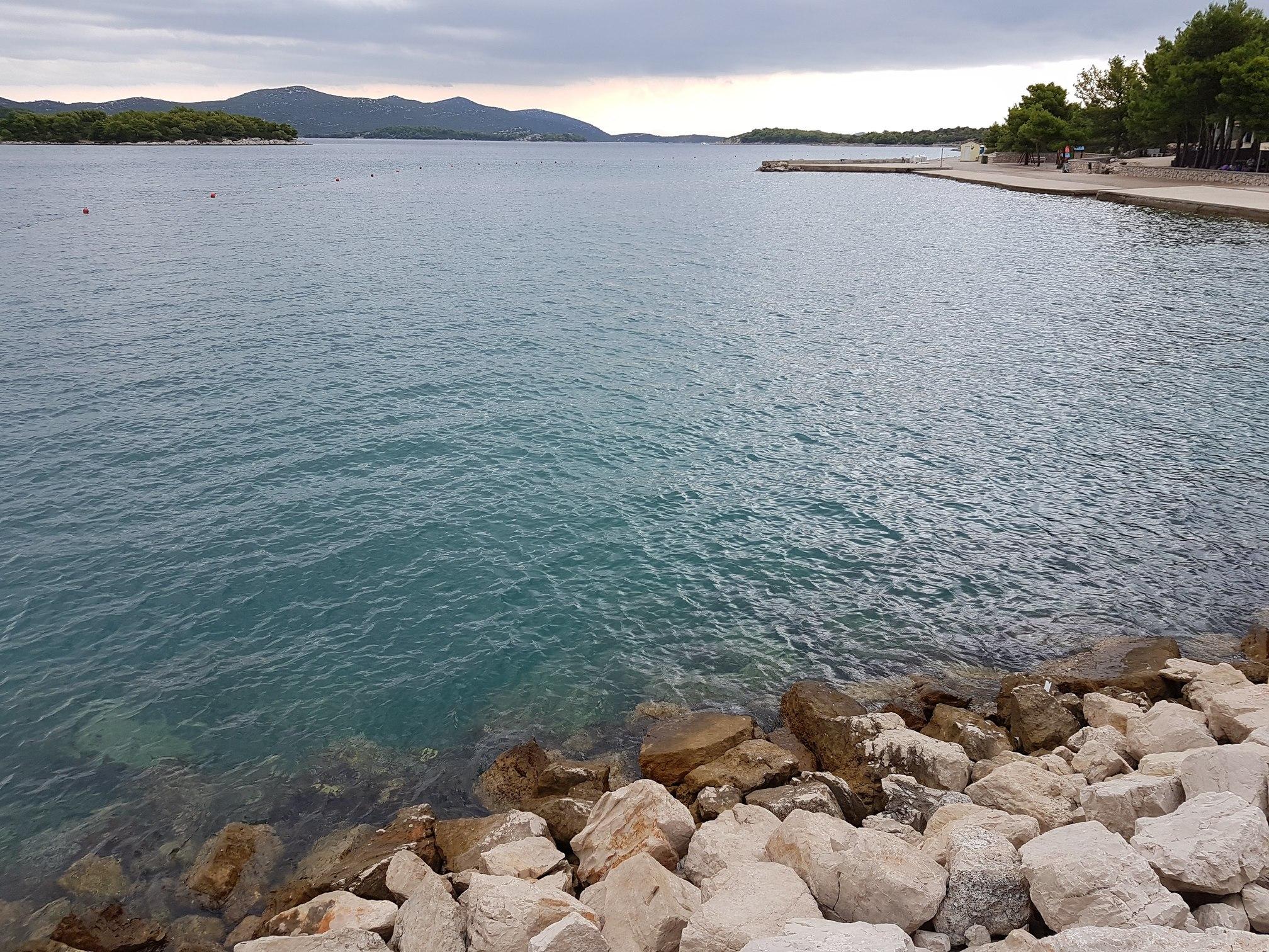 Breakwater in Jezera marina