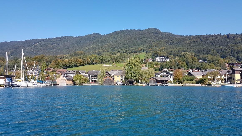 Unterach harbor and slipway