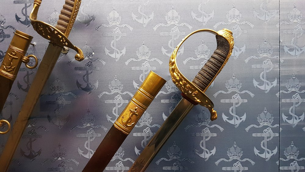 Navy officers' swords