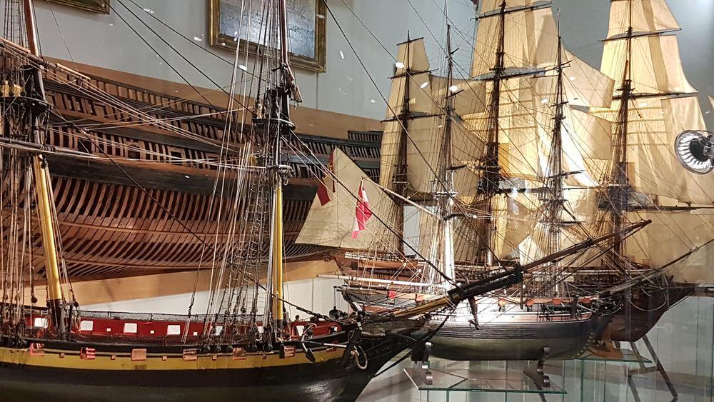 Several models of Austrian ships