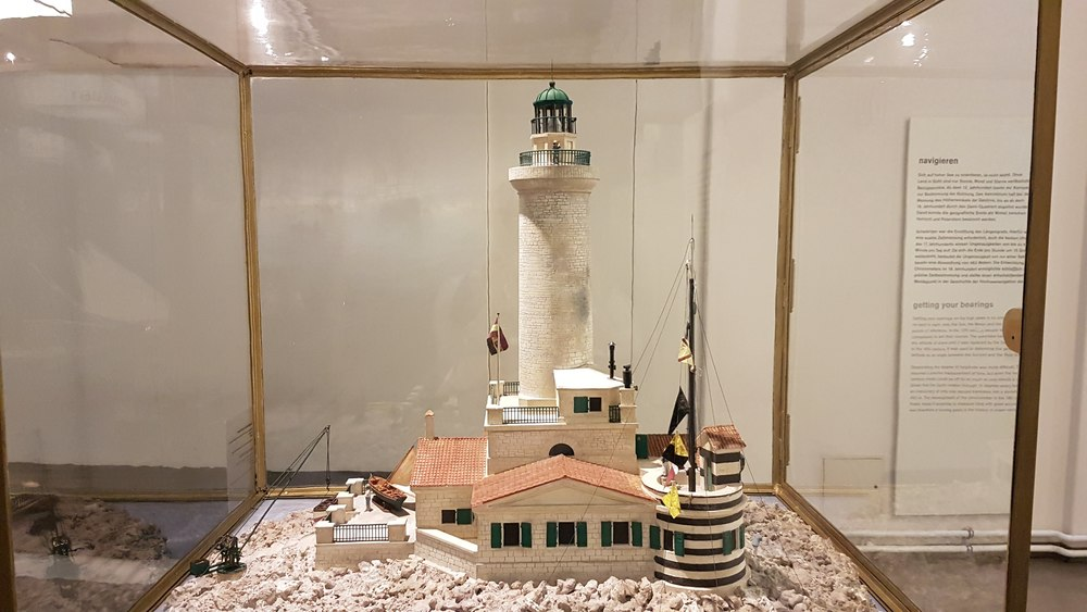 Model of Lighthouse Porer in The Adriatic Sea