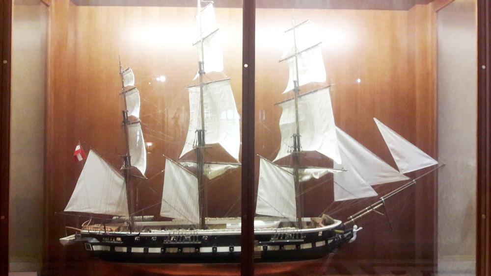 HMS Novara Expedition Ship Model